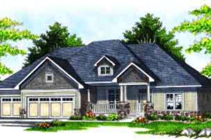 Dream House Plan - Farmhouse Exterior - Front Elevation Plan #70-629
