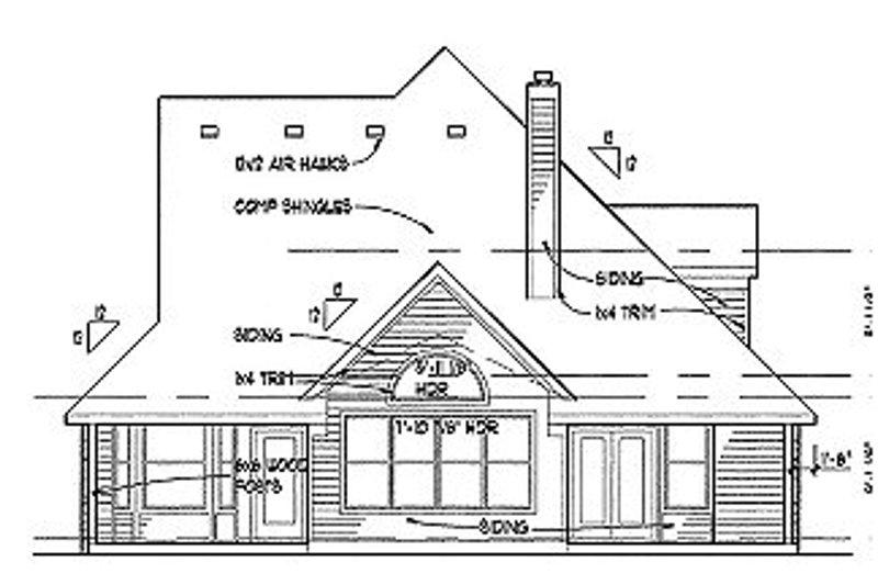 Traditional Exterior - Rear Elevation Plan #120-153 - Houseplans.com