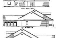 House Plan Design - Farmhouse Exterior - Rear Elevation Plan #17-407