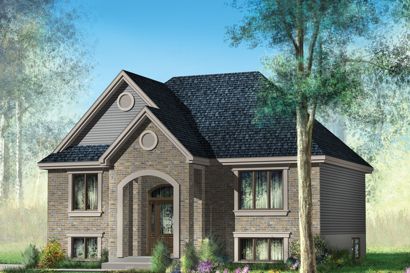 Traditional Style House Plan - 2 Beds 1 Baths 921 Sq/Ft Plan #25-4331 Exterior - Front Elevation