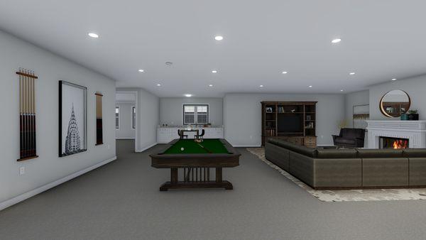 Ranch Floor Plan - Lower Floor Plan #1060-99
