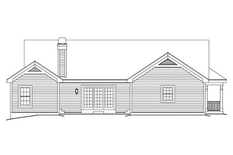 Farmhouse Exterior - Rear Elevation Plan #57-345 - Houseplans.com