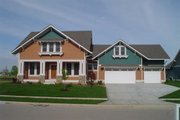 Craftsman Style House Plan - 3 Beds 2.5 Baths 2494 Sq/Ft Plan #458-10 Exterior - Front Elevation