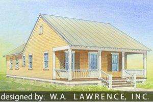 Cottage Exterior - Front Elevation Plan #514-11