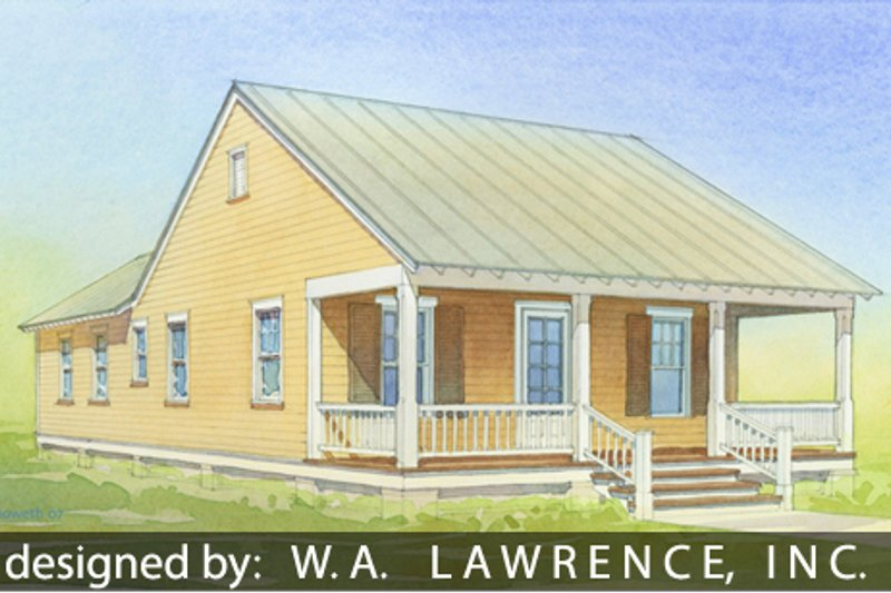 Cottage Style House Plan - 2 Beds 2 Baths 888 Sq/Ft Plan #514-11 Exterior - Front Elevation