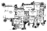 Colonial Style House Plan - 4 Beds 3 Baths 2900 Sq/Ft Plan #310-712 Floor Plan - Main Floor