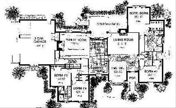 Colonial Floor Plan - Main Floor Plan #310-712
