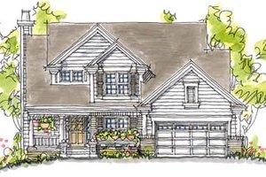 Craftsman Exterior - Front Elevation Plan #20-250
