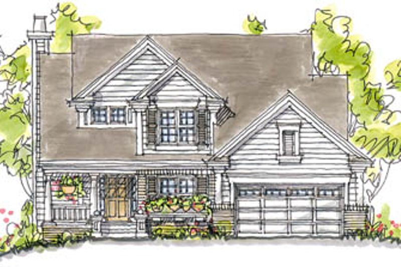 Craftsman Exterior - Front Elevation Plan #20-250