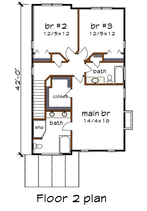 Dream House Plan - Contemporary Floor Plan - Upper Floor Plan #79-316
