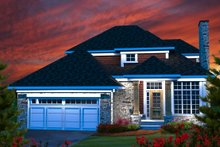 Dream House Plan - Traditional Exterior - Front Elevation Plan #70-1163