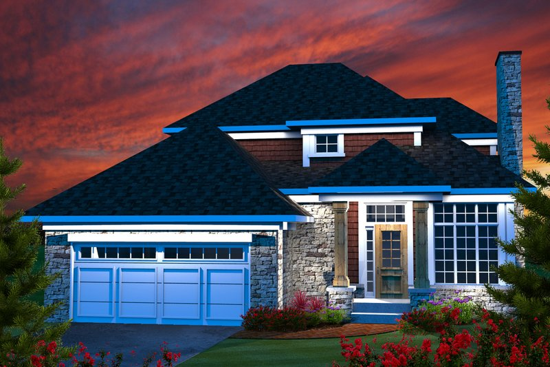 Traditional Style House Plan - 4 Beds 2.5 Baths 1690 Sq/Ft Plan #70-1163
