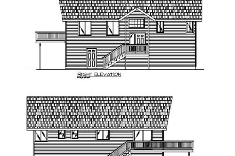 Modern Exterior - Other Elevation Plan #117-195 - Houseplans.com