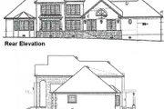 European Style House Plan - 4 Beds 4 Baths 3712 Sq/Ft Plan #15-227 Exterior - Rear Elevation