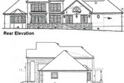 European Style House Plan - 4 Beds 4 Baths 3712 Sq/Ft Plan #15-227 Exterior - Rear Elevation