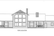 Craftsman Exterior - Rear Elevation Plan #117-880