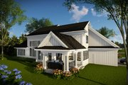 Farmhouse Style House Plan - 4 Beds 4 Baths 3205 Sq/Ft Plan #70-1469 Exterior - Rear Elevation
