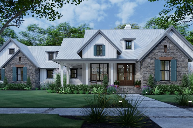 Cottage Exterior - Front Elevation Plan #120-269