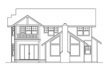Home Plan - Traditional Exterior - Rear Elevation Plan #124-331