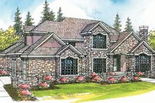 European Exterior - Front Elevation Plan #124-318