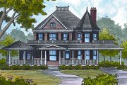 Colonial Style House Plan - 4 Beds 2.5 Baths 2781 Sq/Ft Plan #417-332 Exterior - Front Elevation
