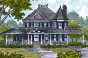 Colonial Exterior - Front Elevation Plan #417-332