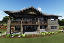 Architectural House Design - Ranch Exterior - Rear Elevation Plan #1069-7