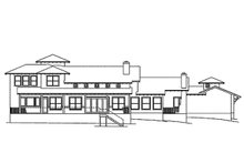 Dream House Plan - Mediterranean Exterior - Rear Elevation Plan #935-4