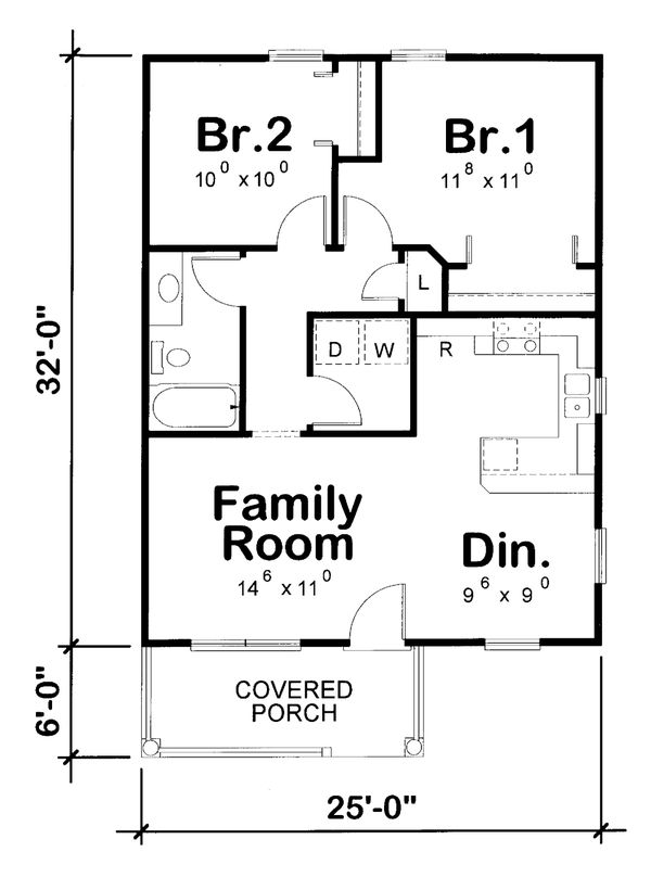 Cabin Floor Plan - Main Floor Plan Plan #20-2365
