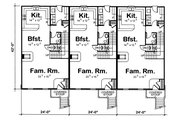 Traditional Style House Plan - 3 Beds 2.5 Baths 5420 Sq/Ft Plan #20-629 Floor Plan - Main Floor