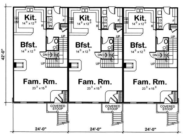 Traditional Floor Plan - Main Floor Plan #20-629
