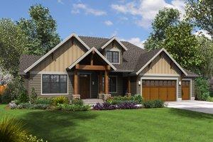 Craftsman Exterior - Front Elevation Plan #48-673