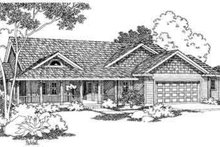 Country Exterior - Front Elevation Plan #124-374