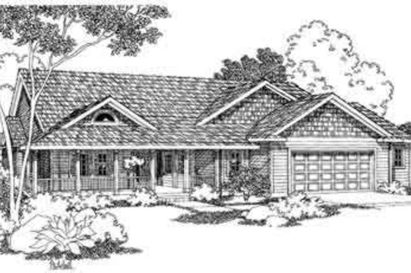 Home Plan - Country Exterior - Front Elevation Plan #124-374