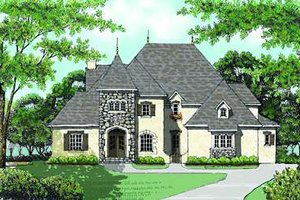 European Exterior - Front Elevation Plan #413-148