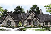 European Style House Plan - 3 Beds 2.5 Baths 3120 Sq/Ft Plan #70-467 Exterior - Front Elevation