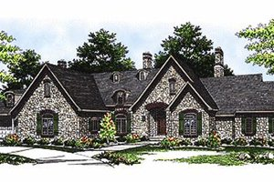 European Exterior - Front Elevation Plan #70-467