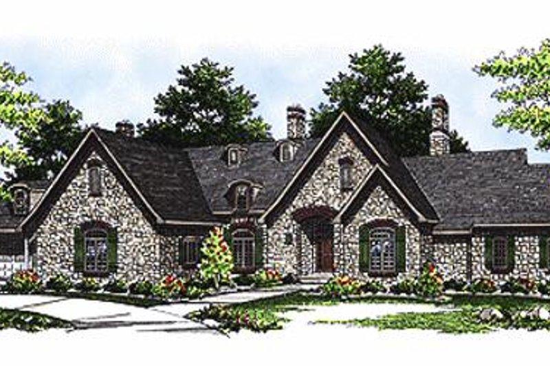 Dream House Plan - European Exterior - Front Elevation Plan #70-467
