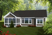 Home Plan - Ranch Exterior - Rear Elevation Plan #70-1111