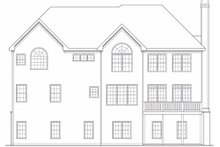 Country Exterior - Rear Elevation Plan #419-185