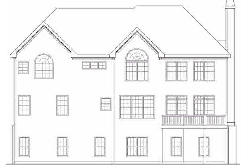 Country Exterior - Rear Elevation Plan #419-185 - Houseplans.com
