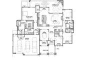 Adobe / Southwestern Style House Plan - 3 Beds 3 Baths 2982 Sq/Ft Plan #1069-16 Floor Plan - Main Floor Plan
