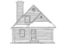 House Design - Traditional Exterior - Rear Elevation Plan #23-2063