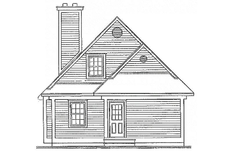 Traditional Exterior - Rear Elevation Plan #23-2063 - Houseplans.com