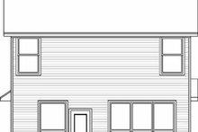 Colonial Exterior - Rear Elevation Plan #84-121