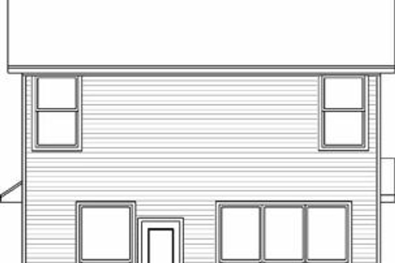 Colonial Exterior - Rear Elevation Plan #84-121 - Houseplans.com