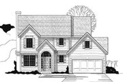 Traditional Style House Plan - 3 Beds 3 Baths 1790 Sq/Ft Plan #67-138 Exterior - Front Elevation