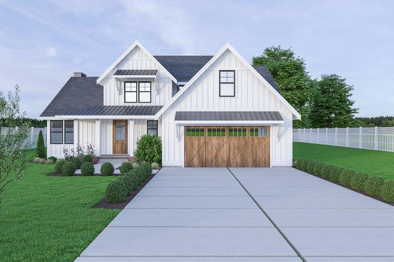 House Plan Design - Farmhouse Exterior - Front Elevation Plan #1070-16
