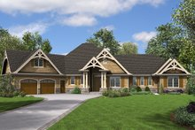 Dream House Plan - Craftsman Exterior - Front Elevation Plan #48-945