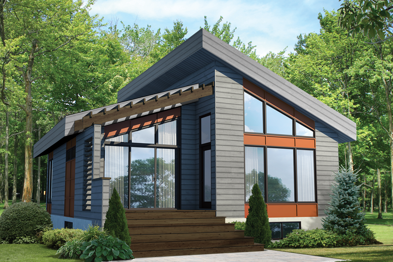 Home Plan - Contemporary Exterior - Front Elevation Plan #25-4578